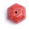 """Sponge Coral Beads 15-17mm 6- Face 16"""" Strand Red"""